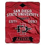 NCAA San Diego State Aztecs Label Plush Raschel Throw, 50' x 60'