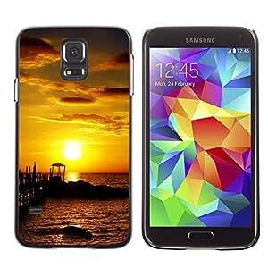 "For Samsung Galaxy S5 , S-type Seaside Sunset"" - Arte & diseño plástico duro Fundas Cover Cubre Hard Case Cover"