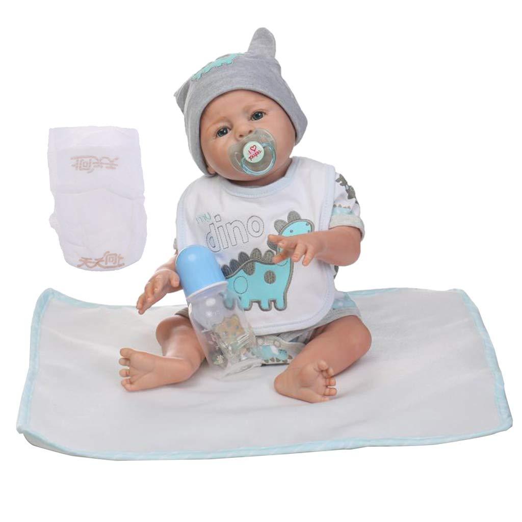 F Fityle Simulato Bambino Bambola di Silicone Rinato 18 Pollici con Abbigliamento