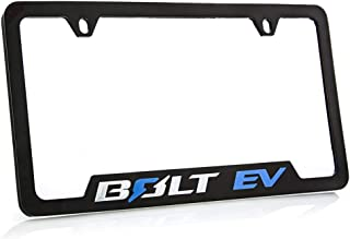 product image for Chevrolet Bolt EV Zinc License Plate Frame with Powder Coated Black Finish
