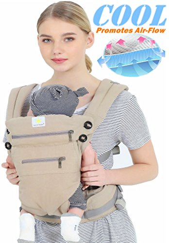 baby carriers front and back, 360 Ergonomic Baby Carrier - All Season Baby Sling 100% cotton baby backpack,One Size Fits All - Adapt to Newborn, Infant & Toddler. from Sunny&Baby