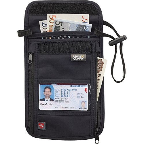 Lewis N. Clark Rfid Neck Stash Hidden security Wallet
