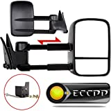 ECCPP Towing Manual Telescoping Side View Door Mirrors Le...