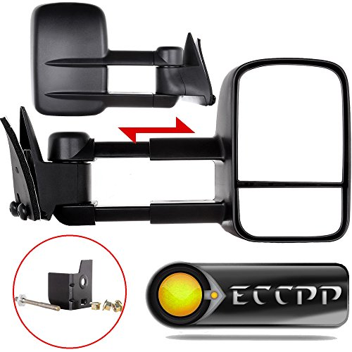 ECCPP Towing Manual Telescoping Side View Door Mirrors Left & Right Pair Set for 88-98 Chevy/GMC C/K1500 88-00 C/K2500 3500 92-99 Suburban C/K1500 2500 Tahoe Yukon Truck/2000 Chevy Tahoe GMC Yukon V8 5.7L