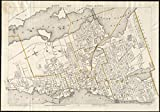 Historic Map | 1906 City of Fall River | Antique Vintage Reproduction