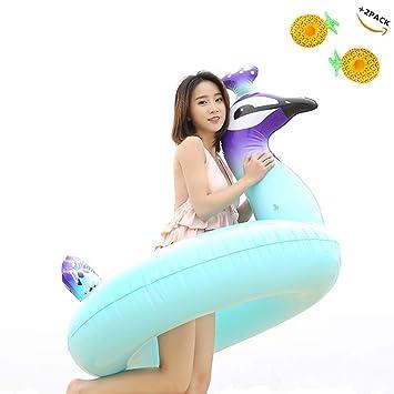 Piscina flotante inflable juguetes anillo de natación pavo real ...
