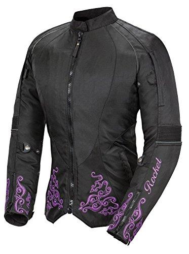 Joe Rocket Heartbreaker 3.0 Women's Textile Motorcycle Jacket (Black/Purple, X-Small)