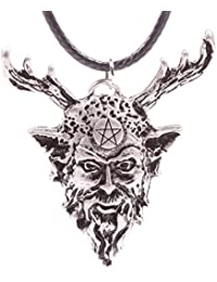 Cernunnos Necklace Celtic God Pagan Wiccan Talisman Alloy (Antique Silver Plated) 4033