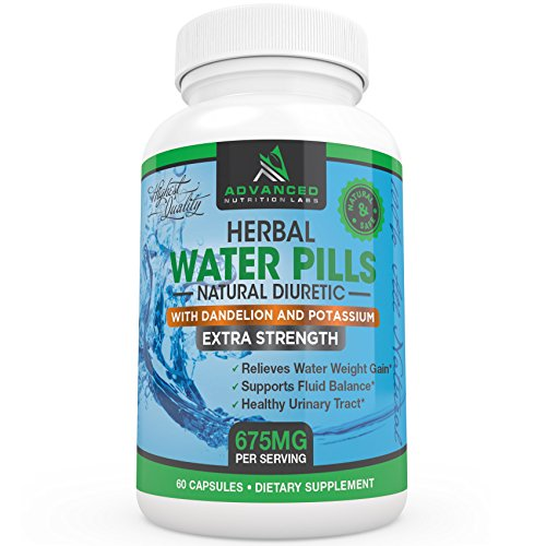 Herbal Diuretic Water Pills with Dandelion and Potassium
