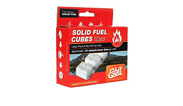 Amazon.com  Esbit 1300 Degree Smokeless Solid Fuel Cubes for Backpacking 89a7695a7a6