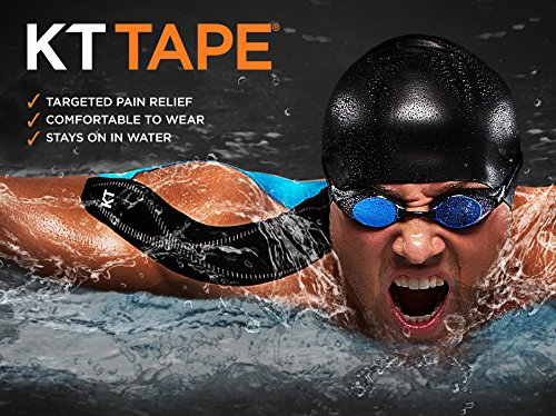 KT Tape PRO Synthetic Elastic Kinesiology Therapeutic Tape, Jumbo 150 Precut 10 Inch Strips, Blaze Orange by KT Tape (Image #8)