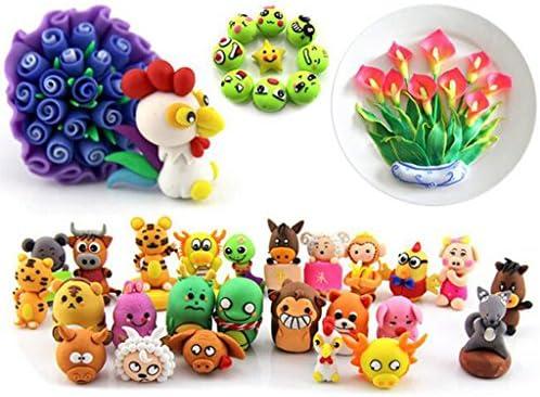 知育玩具 粘土 DIY 手芸用 粘土セット ポリマー オーブン焼き 手芸用 全4サイズ - 24色粘土