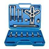 13 Piece Car Harmonic Balancer Gear Puller Steering Wheel Kit Pulley Yoke, Automotive Tool Set