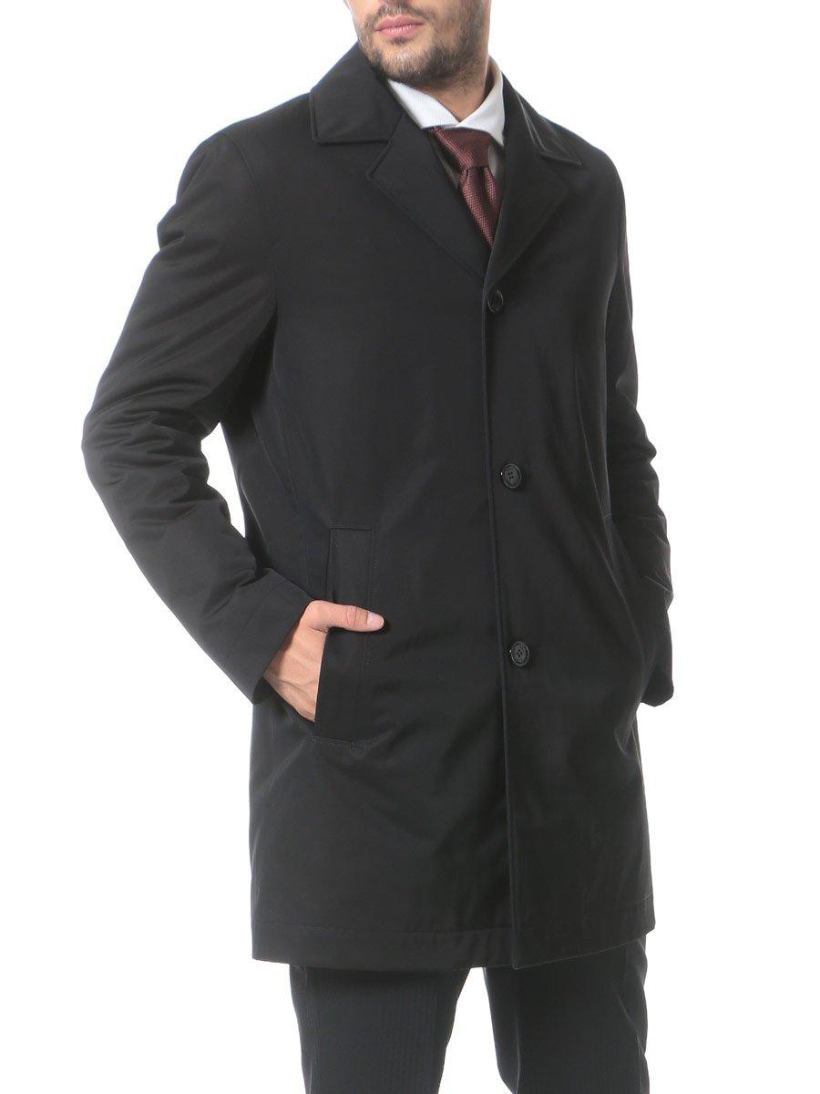 (ヒューゴ ボス) HUGO BOSS 撥水 無地 ステンカラー コート [【HBDAIS7F】] [並行輸入品] B07588FM3H 46|ブラック ブラック 46
