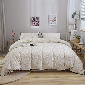 DuShow Taupe Duvet Cover Set King Cotton Linen Solid 3 Piece Comforter Cover Set 1 Duvet Cover with Zipper Closure and 2 Pillowcases