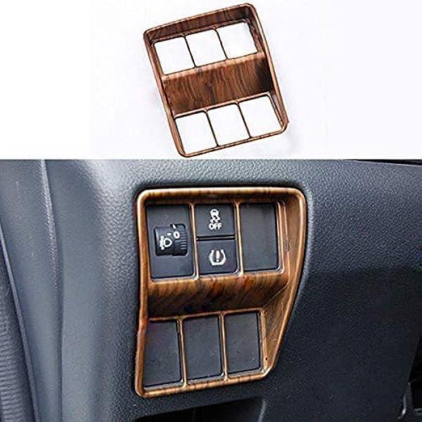 Peach Wood Grain Front Dashboard Frame Cover Trim For Honda CR-V CRV 2017-2020