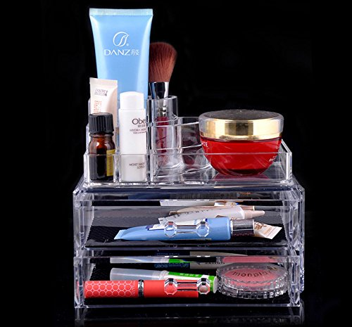 Price comparison product image ACE Acrylic Cosmetic Organizer Drawer Makeup Case Storage Insert Holder Box