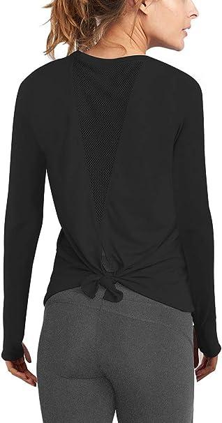 Amazon.com: Mippo - Camiseta de manga larga para mujer con ...
