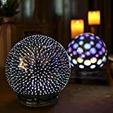 """Valery Madelyn Decorative Ball Lamp Indoor Outdoor Christmas Glass Ball Ornaments 3D Coral for Hanging and Table Centerpiece, 6"""" Diameter"""