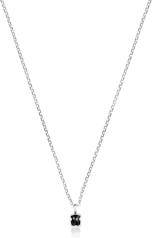 TOUS Collar Mini Onix de Plata con Ónix (918452520)