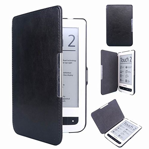 Meijunter Black Hard Leather Protector Pouch Skin Case Cover For PocketBook 624/626 Touch 2