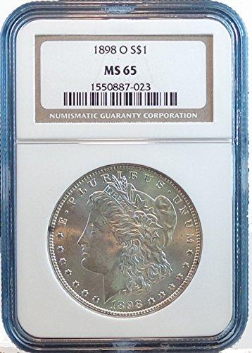 1898 O Morgan Dollar NGC MS65