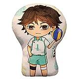 AMOLEY Pkiooi Anime Haikyuu!! Plush Pillow Decoration, Soft Throw Pillow for Sofa/Car/Bedroom, Haikyuu Gift for Fans 35cm(Oikawa Tooru)