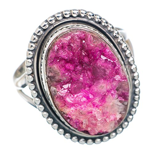 Cobalto Calcite Druzy Ring Size 7 (925 Sterling Silver) - Handmade Jewelry RING877826