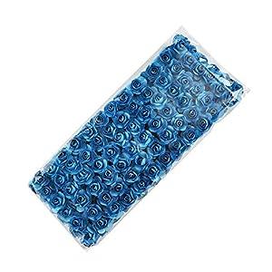 144pcs Mini Paper Rose Handmake Artificial Flowe Bouquet Wedding Decoration DIY Wreath Gift Scrap Booking Craft Fake Flowe (Blue) 77