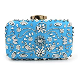 Elegantly Beaded Clutch With Stones.