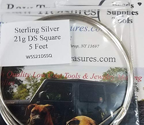 21 Gauge .925 Sterling Silver Dead Soft Wire, SQUARE - 5 Feet_ From RawTreasures