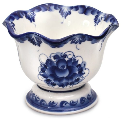 (Hand-painted Gzhel Lidia Candy Dish)