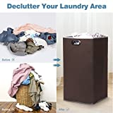 LANGRIA Foldable Laundry Hamper with Large