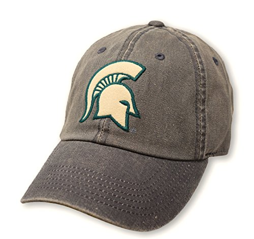(Top of the World NCAA Michigan State Spartans Men's Adjustable Dispatch Charcoal Icon Hat, Charcoal)