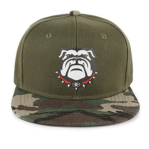 Georgia Bulldogs Flat Camouflage Trucker Hat Summer Mens Womens Adjustable ()