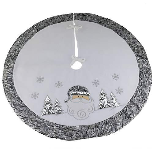 DEJU Embroidered Christmas Tree Skirt 36