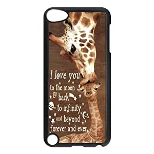 iStyle Zone- Giraffe Hard Plastic Cover Snap On Case For Ipod Touch 5,iTouch 5th Generation