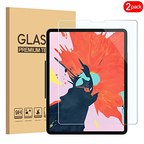 - PULEN Screen Protector for iPad Pro 11 Inch 2018,HD No Bubble Anti-Scratch 9H Hardness Tempered Glass (Works with Face ID) for New iPad Pro 11 Inch Tablet 2018 (2 Packs)