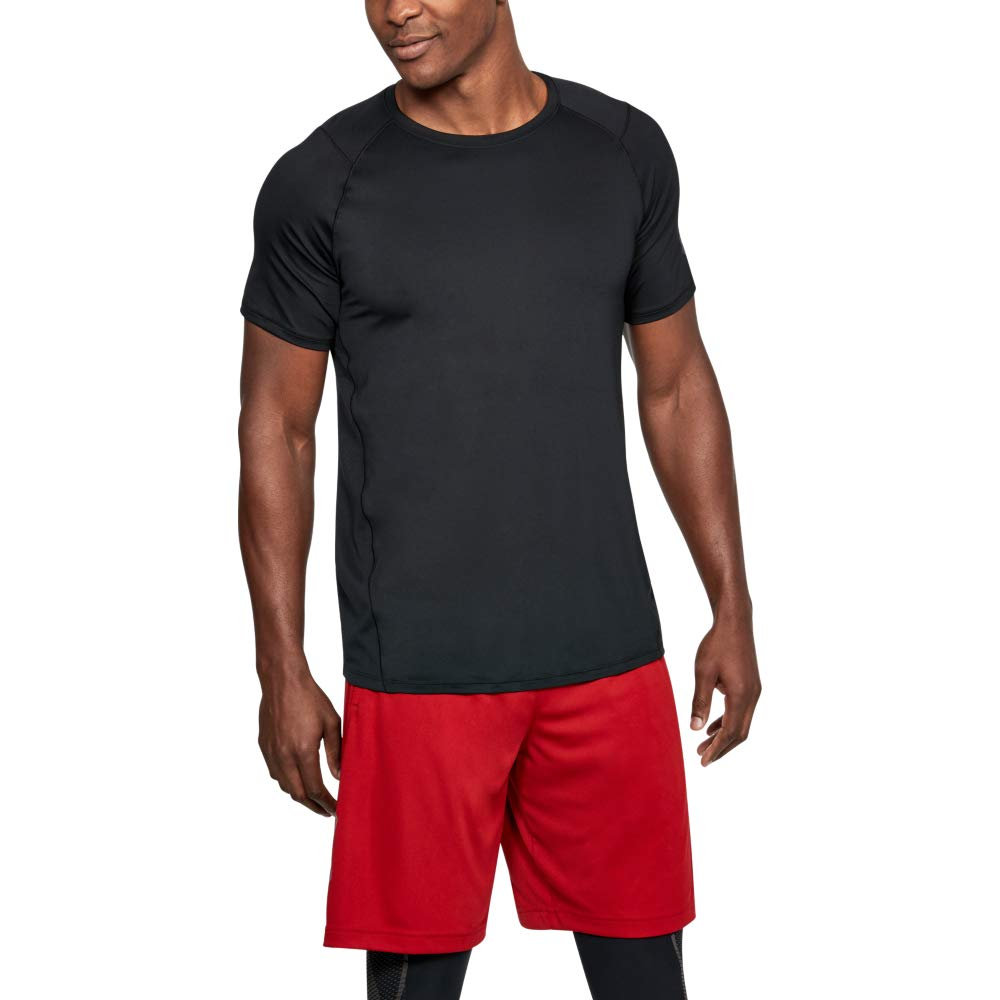 Under Armour Men's MK1 Short Sleeve T-Shirt, Black (001)/Stealth Gray, Medium by Under Armour