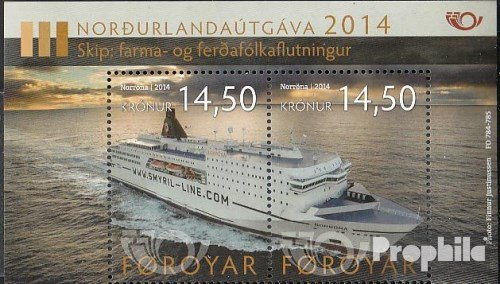 Denmark - Faroe Islands block34 (Complete.Issue.) 2014 Ship (Stamps for Collectors) ()