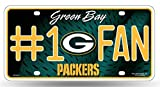 NCAA Official Green Bay Packers 6 x 12 inch #1 Fan Plastic License Plate