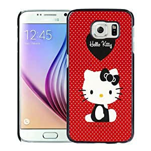 High Quality Samsung Galaxy S6 Skin Case ,Red Hello Kitty Black Samsung Galaxy S6 Screen Cover Case Popular And Unique Custom Designed Phone Case