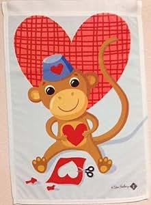 Monkey Valentine Garden Flag Heart Valentine's Day Mini