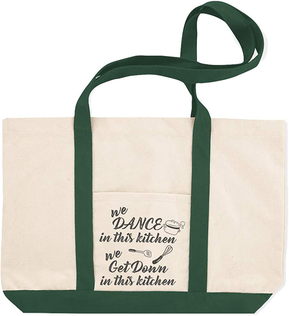 Canvas Shopping Tote Bag We Dance Get down in This Kitchen Home Kitchen Beach for Women