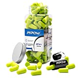 [60 Pairs] Ear Plugs for Sleeping, Mpow Anti-Noise Ear Plugs Foam Soft Quiet Sleeping Ear Plugs With Aluminum Carry Case No Cords Noise Reduction Perfect For Study Sleeping Working Travel Snoring Working Shooting Concert SNR 34dB --- Bright Green