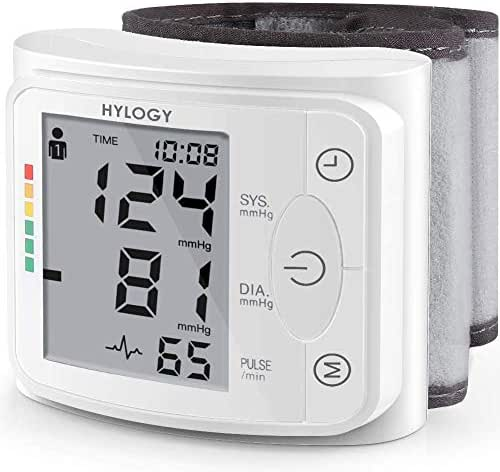 Blood Pressure Monitor HYLOGY Wrist Blood Pressure Cuff Fully Automatic Blood Pressure Machine, Accurate & Fast Reading with 2 * 120 Memory Storage