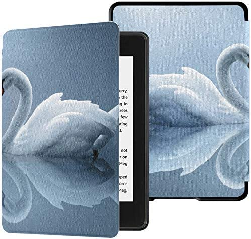 Estuche para Paperwhite Kindle Love Among Birds Two White Swans Lake Fondo de Pantalla de Alta definición Kindle Paperwhite Estuche 10th Case con Auto Wake/Sleep Cool Kindle Paperwhite Case 10th GE: Amazon.es:
