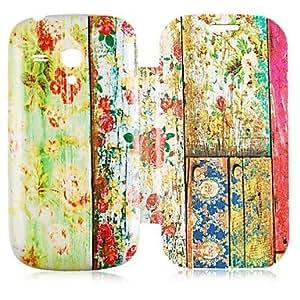 GDW Teléfono Móvil Samsung - Carcasas de Cuerpo Completo - Dibujos Animados/Diseño Especial - para Samsung S3 Mini I8190N ( Multi-color , Cuero PU )