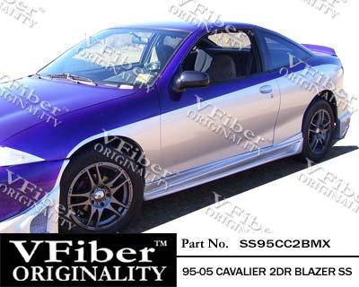 1995-2005 Chevrolet Cavalier 2dr Body Kit Blazer Side Skirt