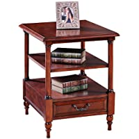Leick Furniture Claridge Collection Cherry Tier End Table, Burnished Russet